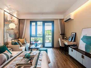 精装海景房,温泉入户,41平单身公寓,世界夏威夷,泰禾咸阳湾