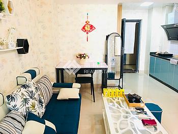 网红风格精装修两房|客厅超漂亮|带阳台看金榜公园|双面采光