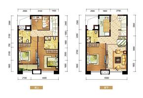 D户型105㎡四房两厅三卫--户型图