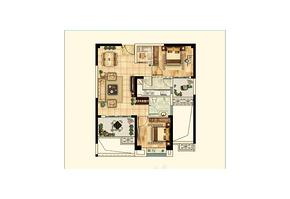 A3户型82㎡ 2室2厅1卫--户型图