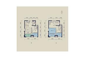 95平 3室2厅2卫--户型图
