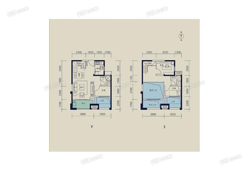 95平 3室2厅2卫