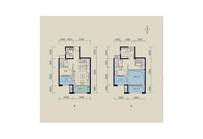 93平 三室两厅两卫--户型图