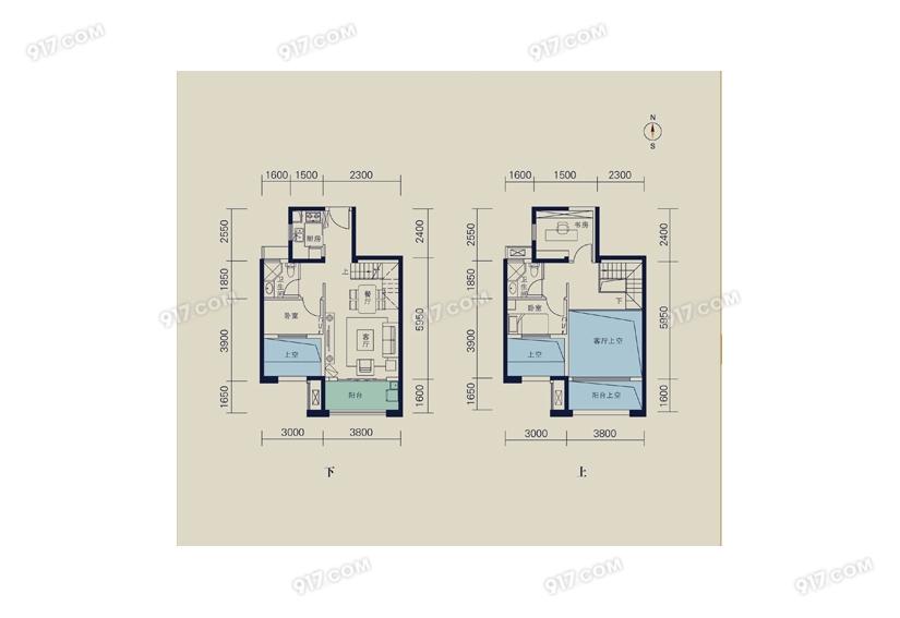 93平 三室两厅两卫