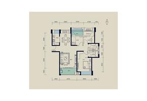 115平 三室两厅两卫--户型图