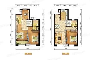E户型120㎡四房两厅三卫--户型图