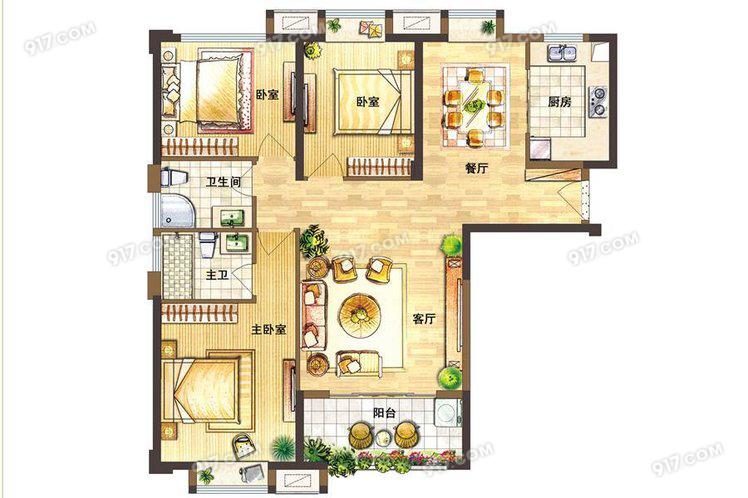 C户型100-121㎡ 3室2厅2卫