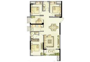 1户型104㎡ 4室2厅2卫--户型图