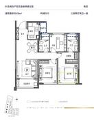 B1户型108㎡ 3室2厅2卫--户型图