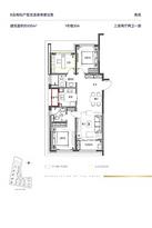 B户型105㎡ 3室2厅2卫--户型图