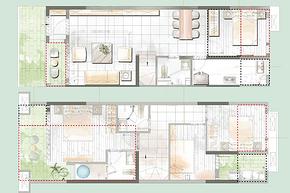 108㎡4房2厅3卫--户型图