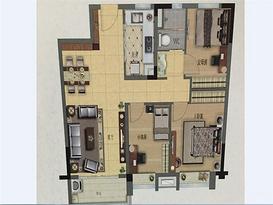 101平 3室2厅1卫--户型图
