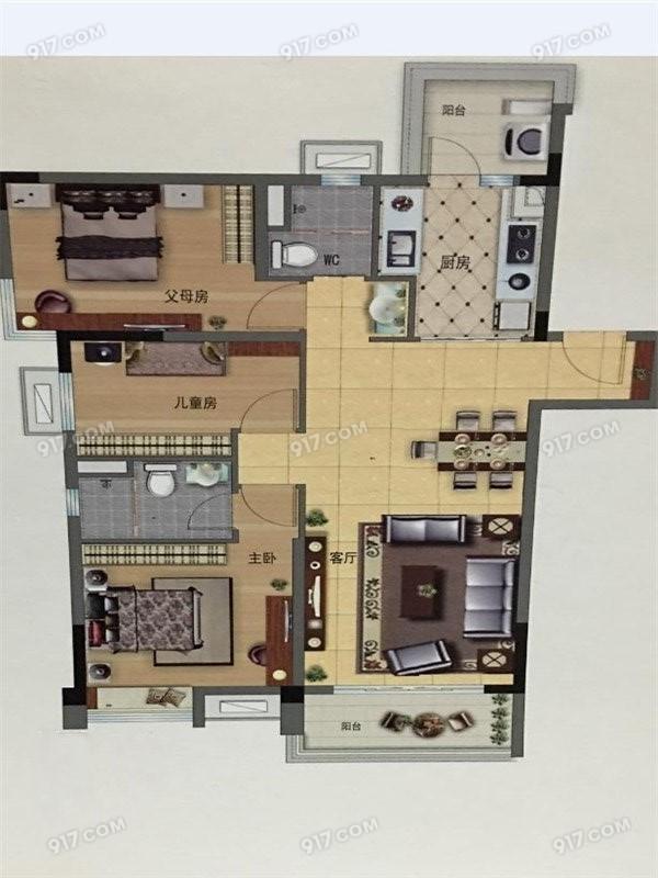 118平 3室2厅2卫