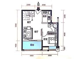 99平 3室2厅2卫--户型图
