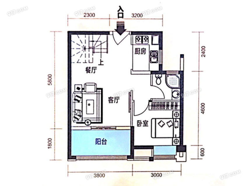 99平 3室2厅2卫