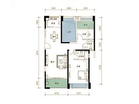 115平 2室2厅2卫--户型图
