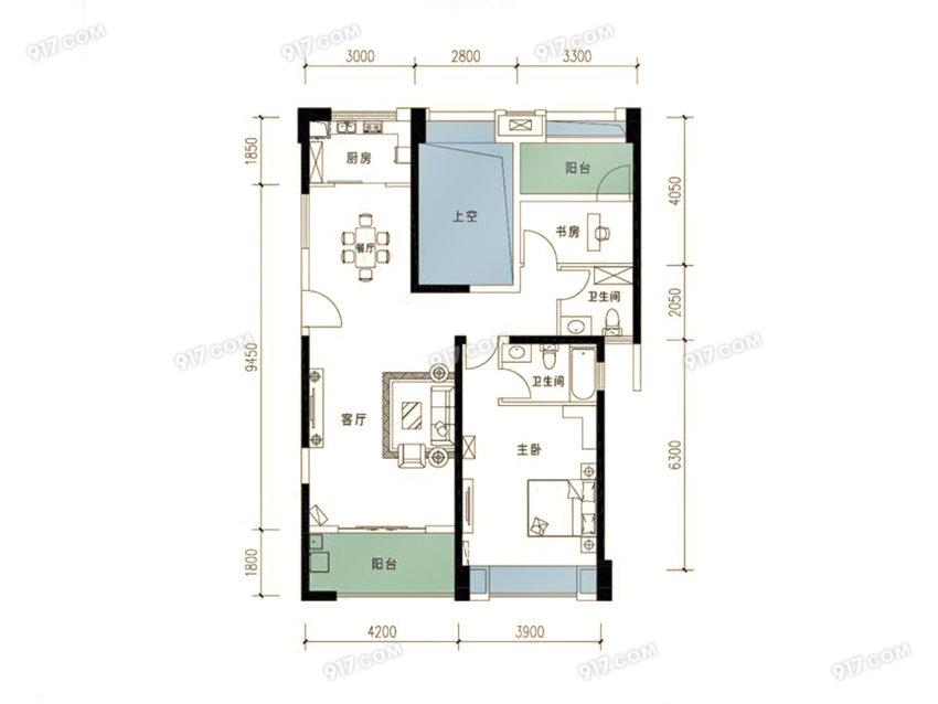 115平 2室2厅2卫