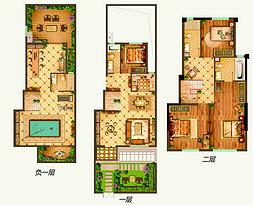 下叠A户型117平 4室1厅3卫--户型图