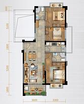 C1户型110㎡四房--户型图