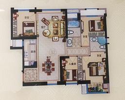 128㎡四房两厅两卫--户型图
