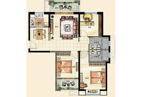 C3户型104㎡ 3室2厅2卫--户型图