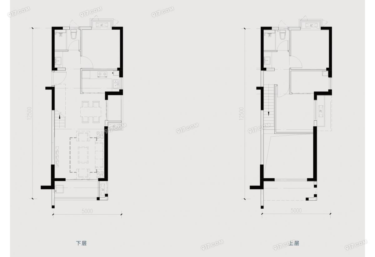 C户型110㎡复式三房