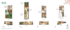 联排别墅262平 1、2、3--户型图