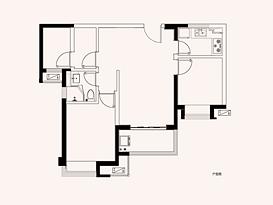 高层D户型 建筑面积约88㎡--户型图