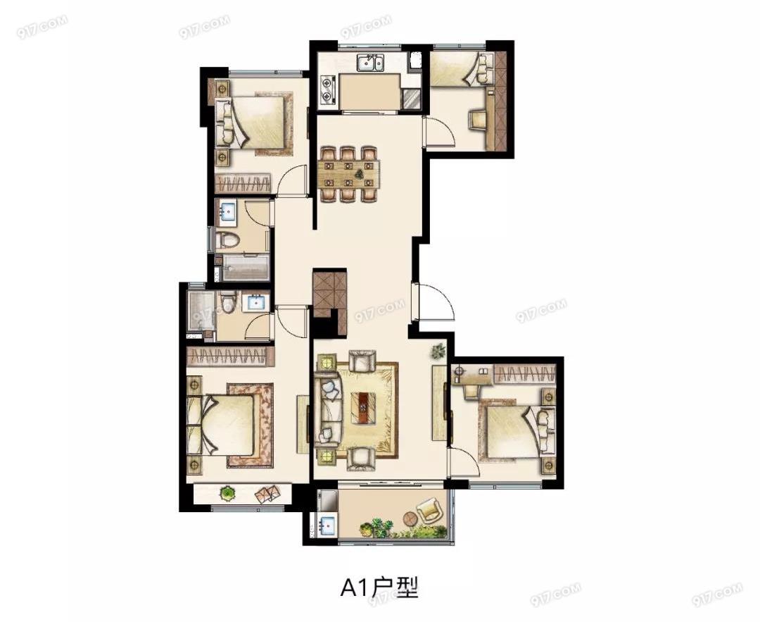 131平 四室两厅两卫
