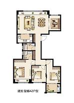 A2 131平 四室两厅两卫--户型图