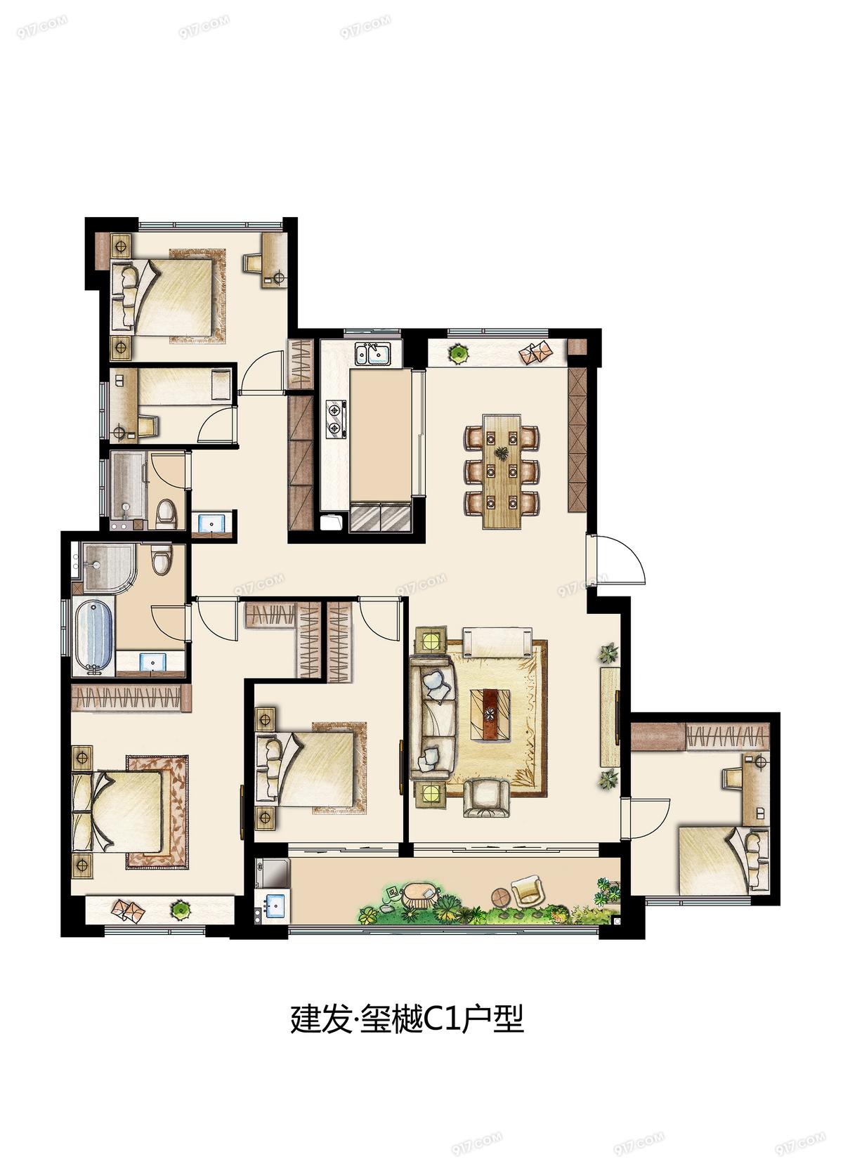 C1 186平 五室两厅两卫