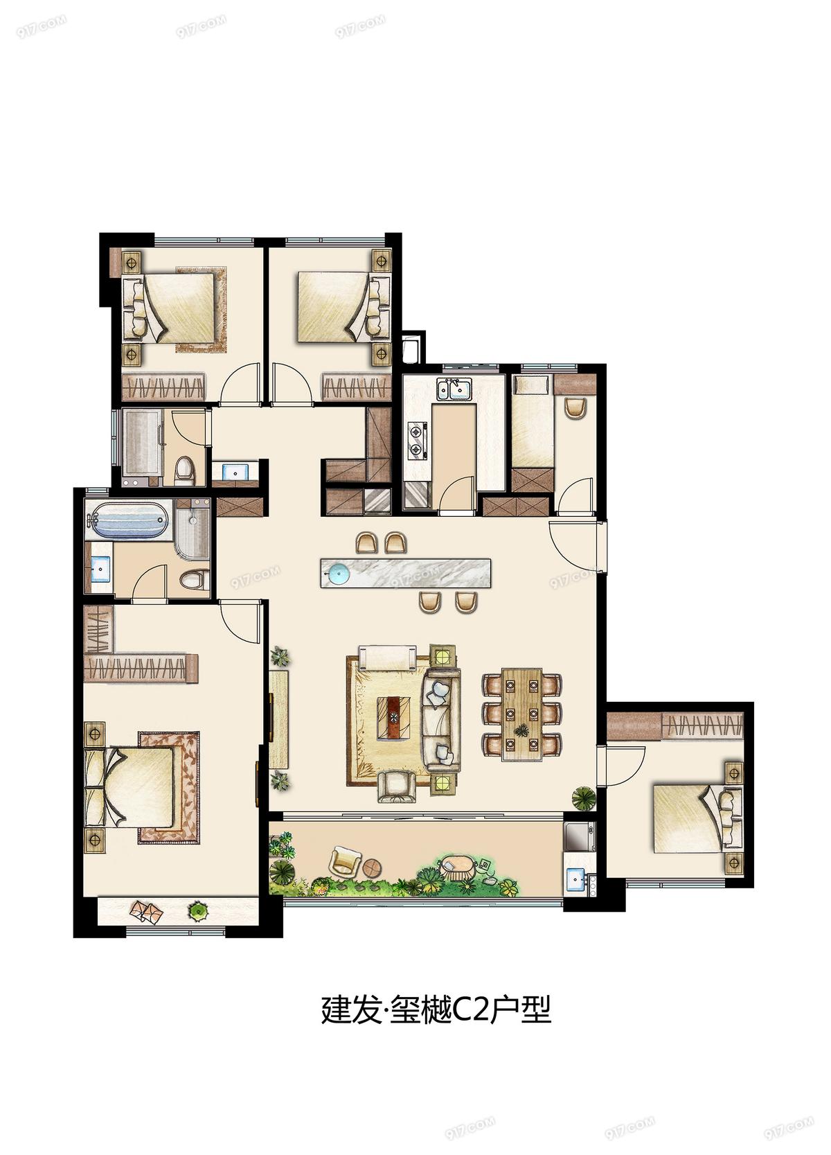C2 186平 五室两厅两卫