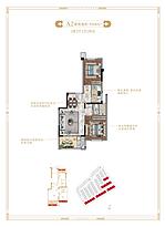 洋房68平--户型图