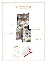 洋房82平--户型图