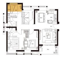 B户型 109平米4房2厅2卫--户型图