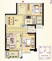 9号楼03户型88㎡两房--户型图