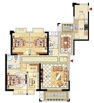 10号楼03及04户型146㎡四房--户型图
