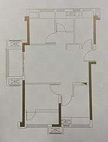 A1户型79㎡三房--户型图