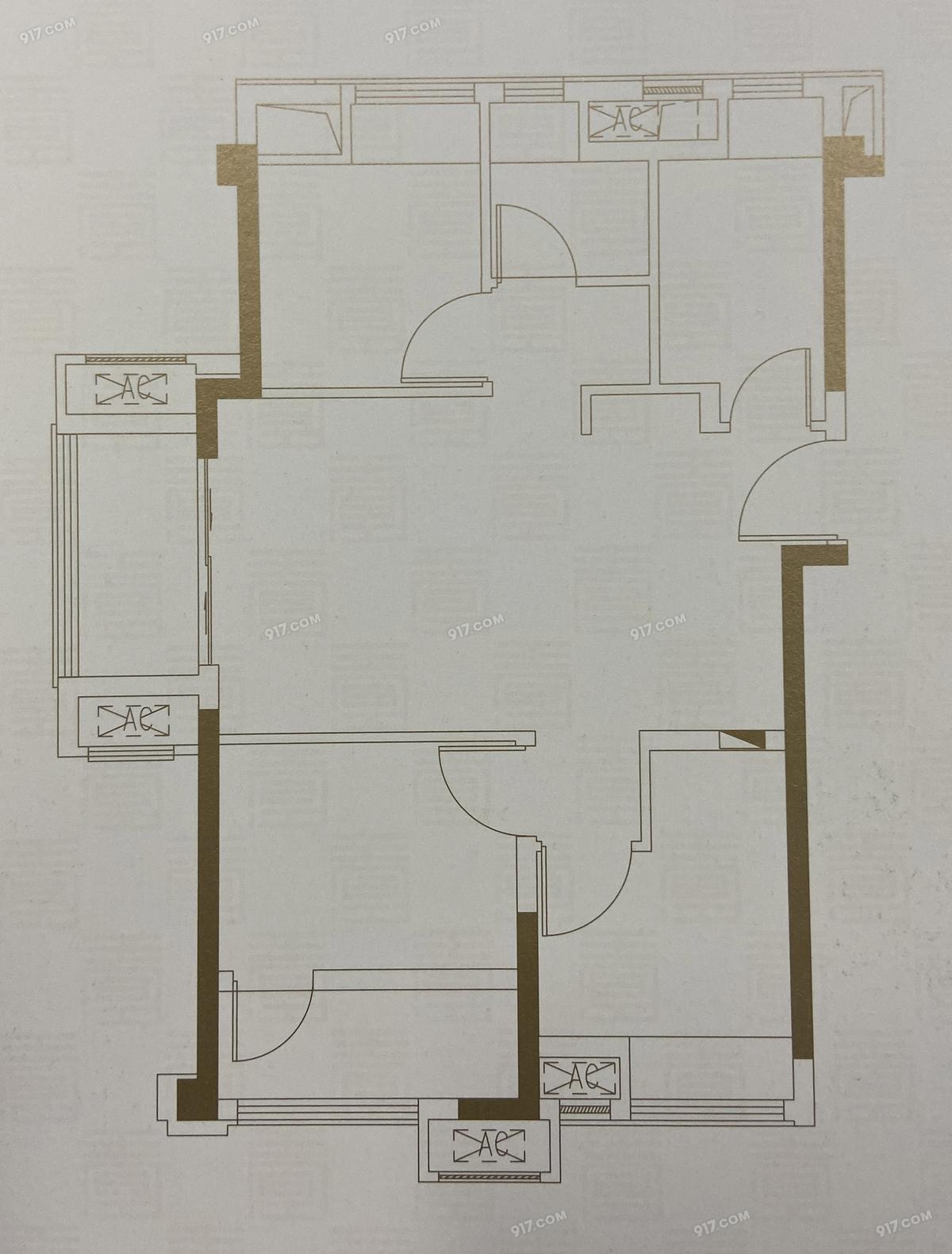 A1户型79㎡三房