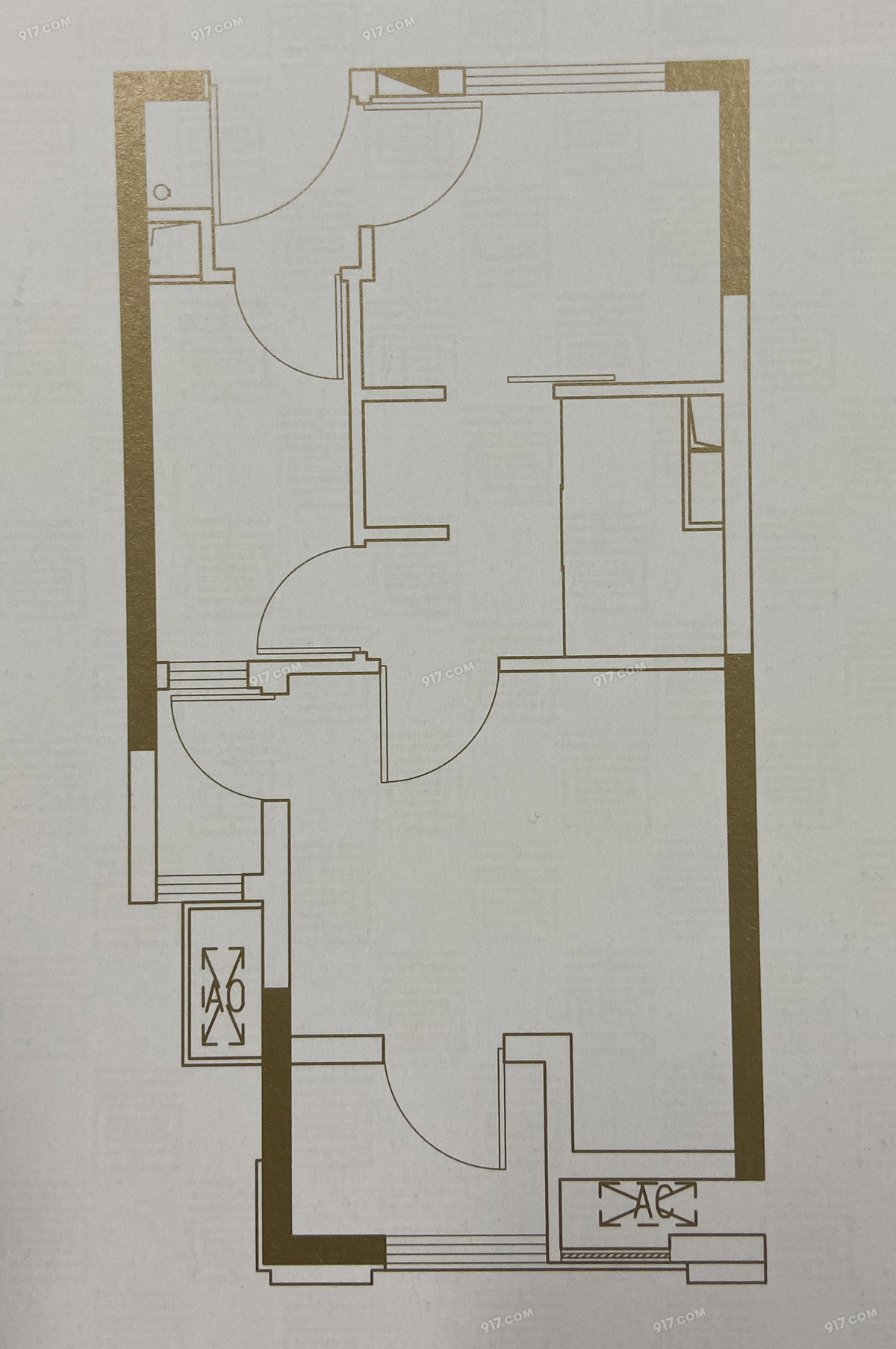 B1户型46㎡两房