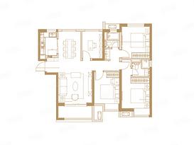 G户型 113平 四室两厅两卫--户型图