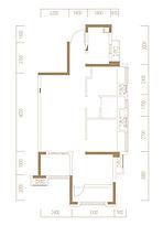 D1户型77㎡三房--户型图