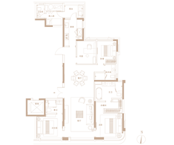 A户型186㎡ 4房2厅3卫--户型图