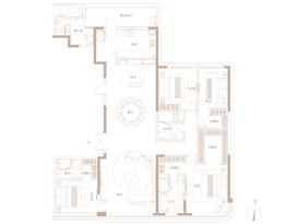D户型260㎡ 4房2厅3卫--户型图