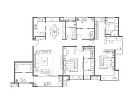 明志-182平--户型图