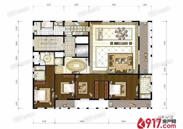 4房3厅4卫272平