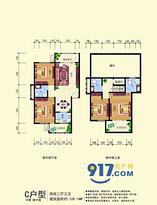 四房两厅三卫--户型图