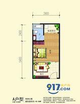 单身公寓--户型图